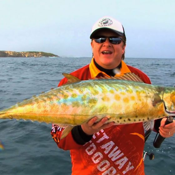 Steve Correia with a Shark Mackerel off Perth