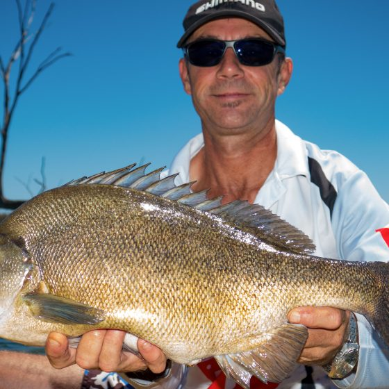 Nick Hocking with a Silver Perch