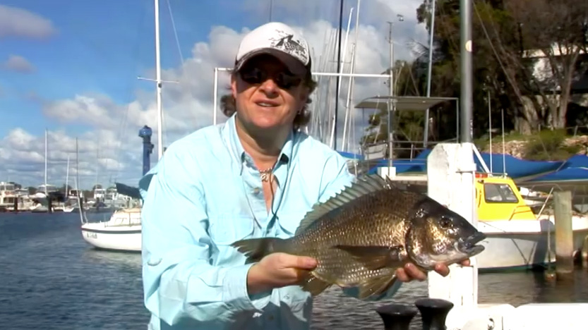 Steve Correia with 46cm Black Bream