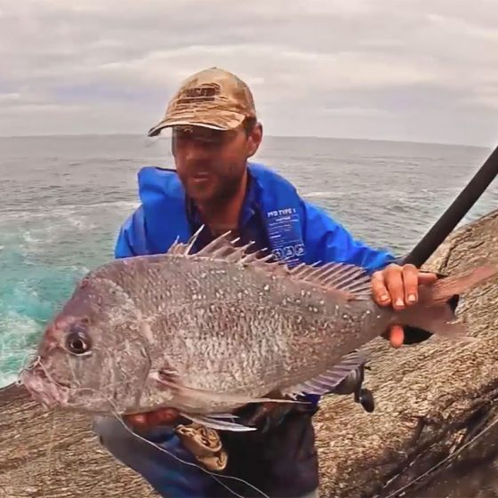 Nick Hocking with Pink Snapper from SW Rocks