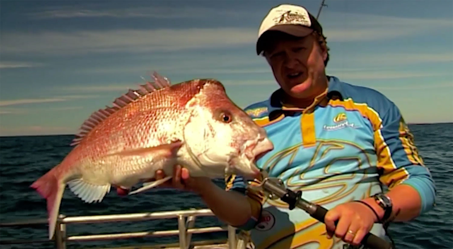 Steve Correia with Pink Snapper