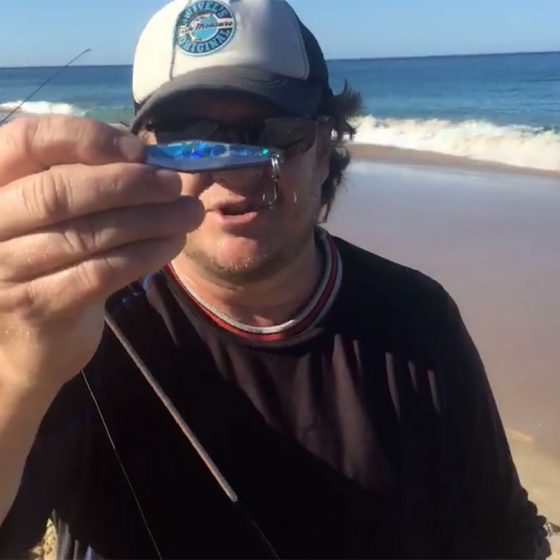 Steve Correia with Metal Lure