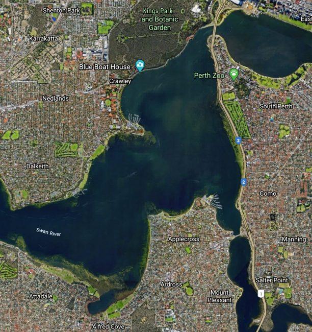 Swan River Map