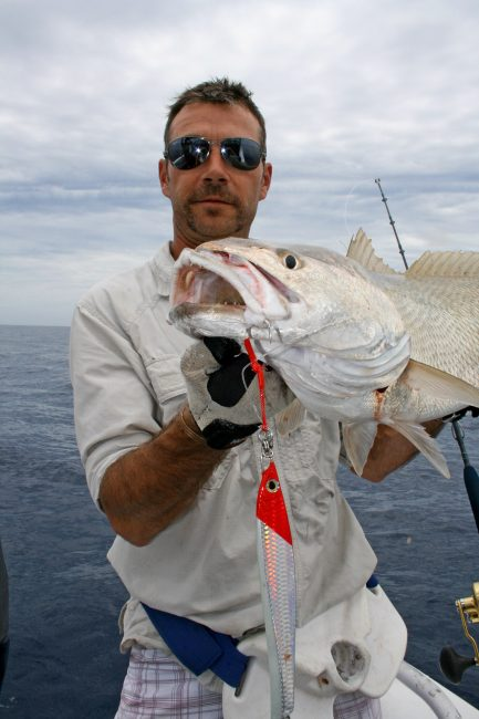 Nick Hocking with a Mulloway from Deep Water