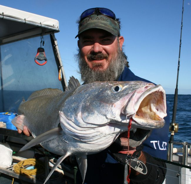 Craig White with a Mulloway