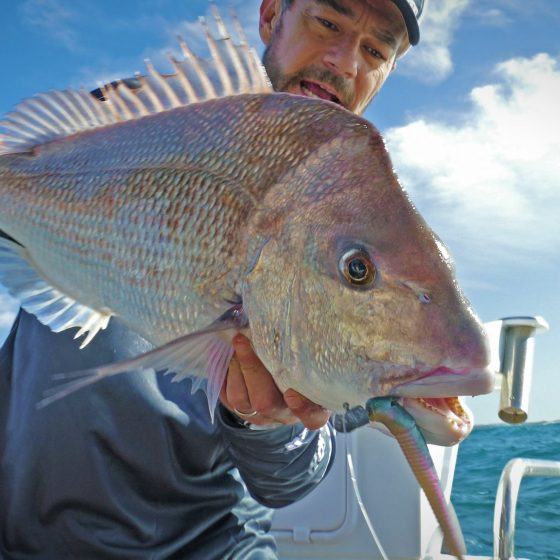 Nick Hocking with a Pink Snapper