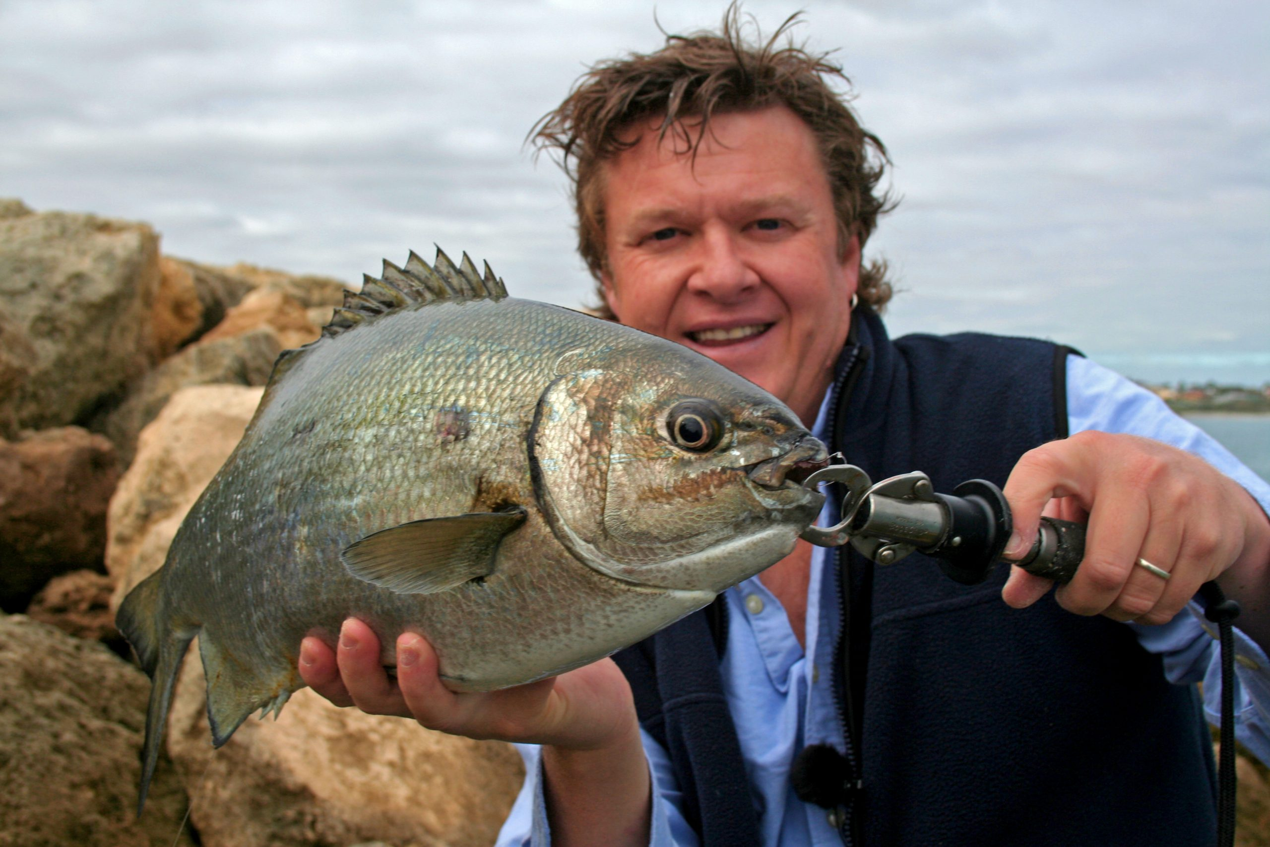 Steve Correia with Hillarys Buffalo Bream