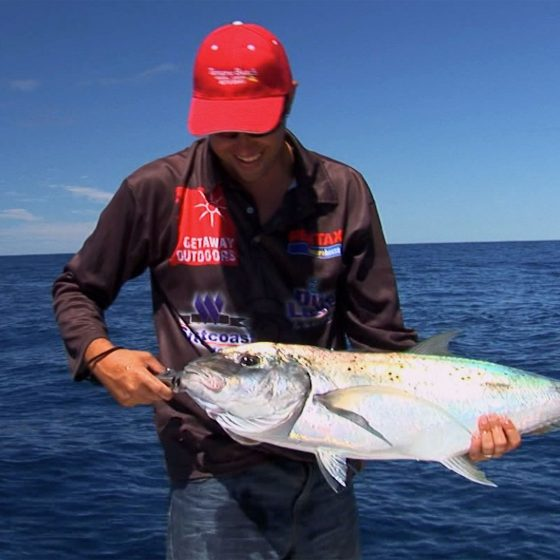 Paul Green with a Gold Spot Trevally