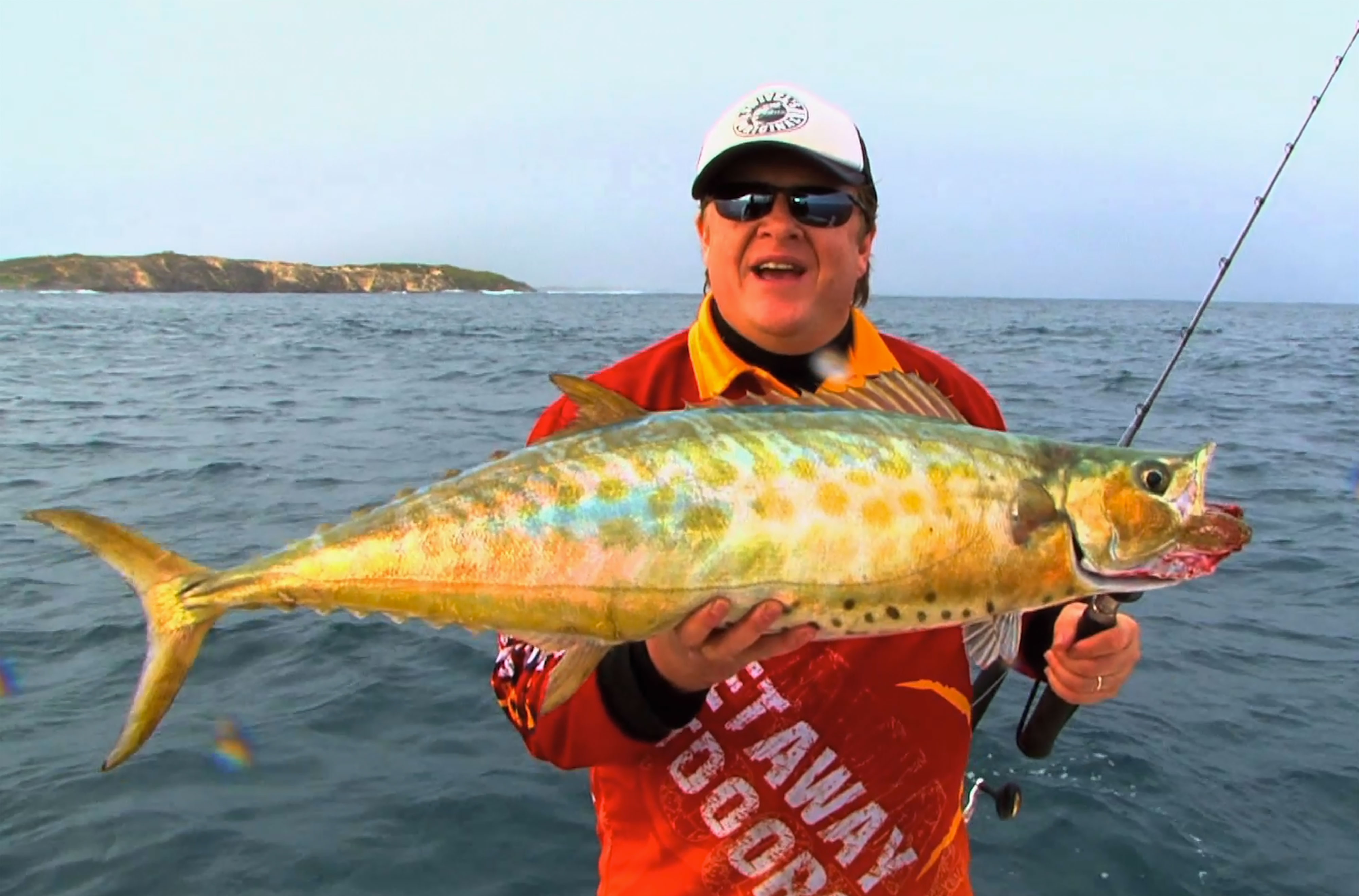 Steve Correia with a Shark Mackerel off Perth