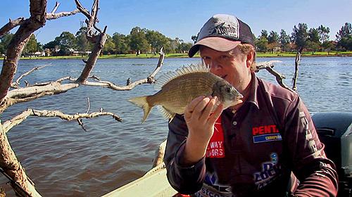 Steve Correia with a Swan River Bream