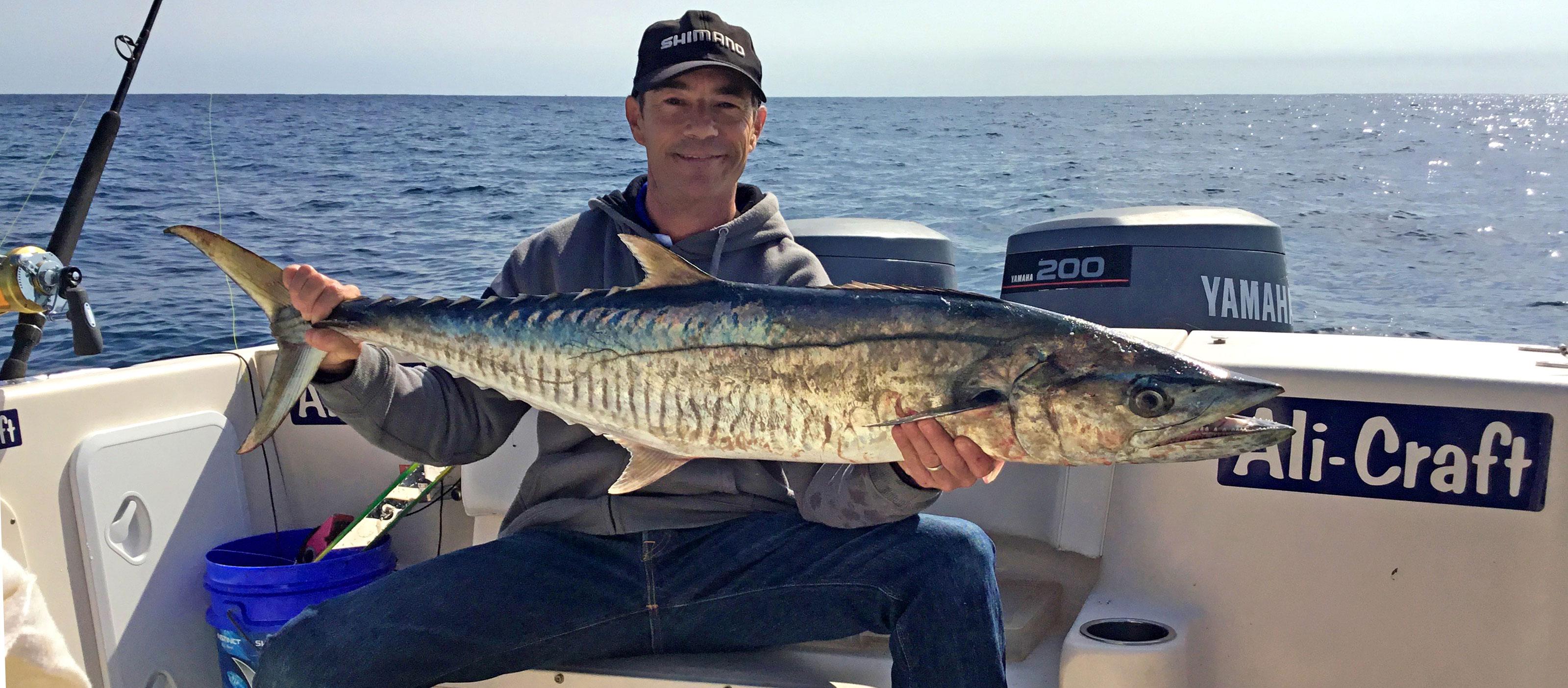 Nick Hocking with a Perth Spanish Mackerel