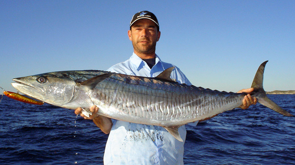 Nick Hocking with a Perth Mackerel