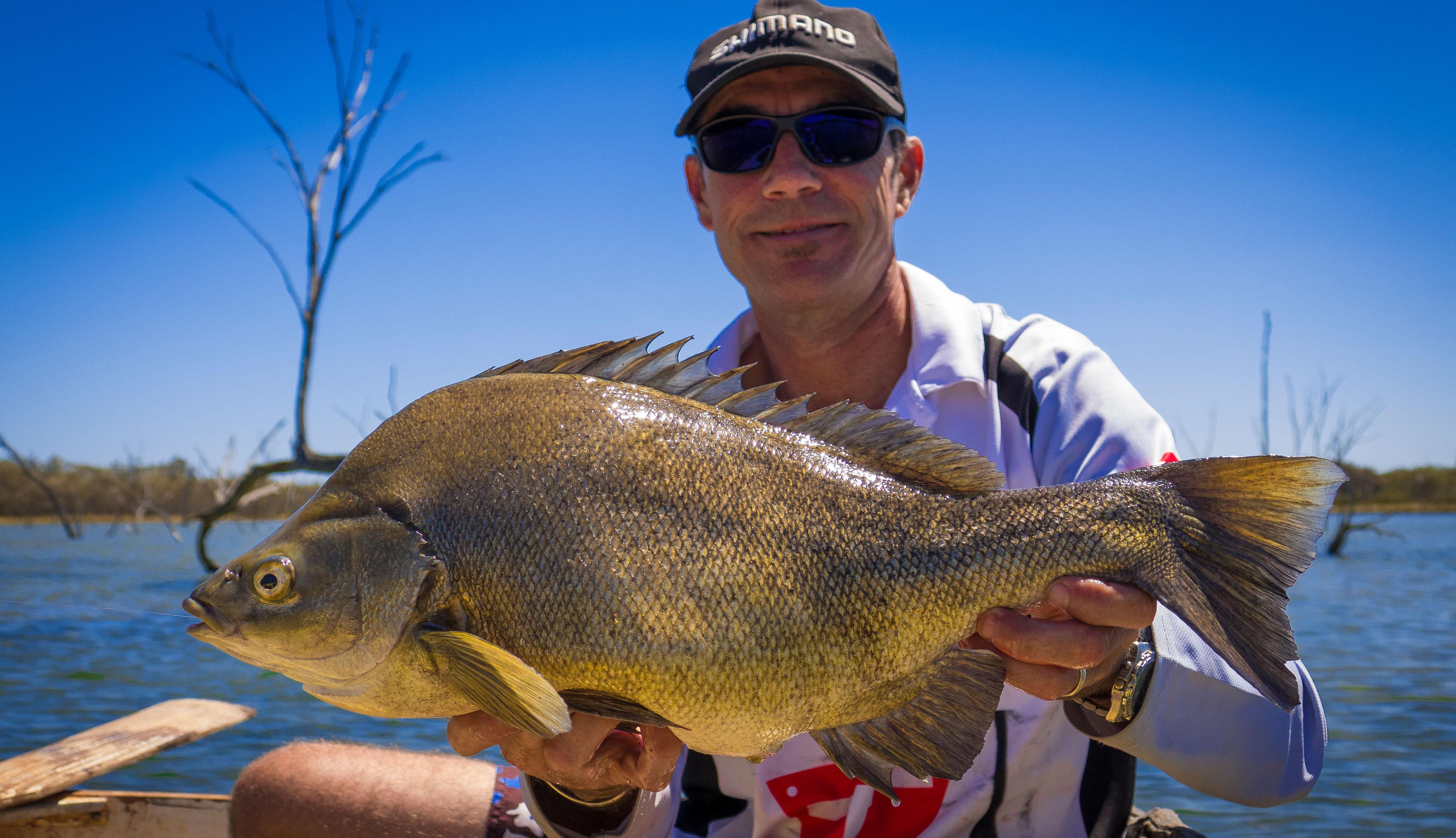 Nick Hocking with a Lake Bidyanus Silver Perch