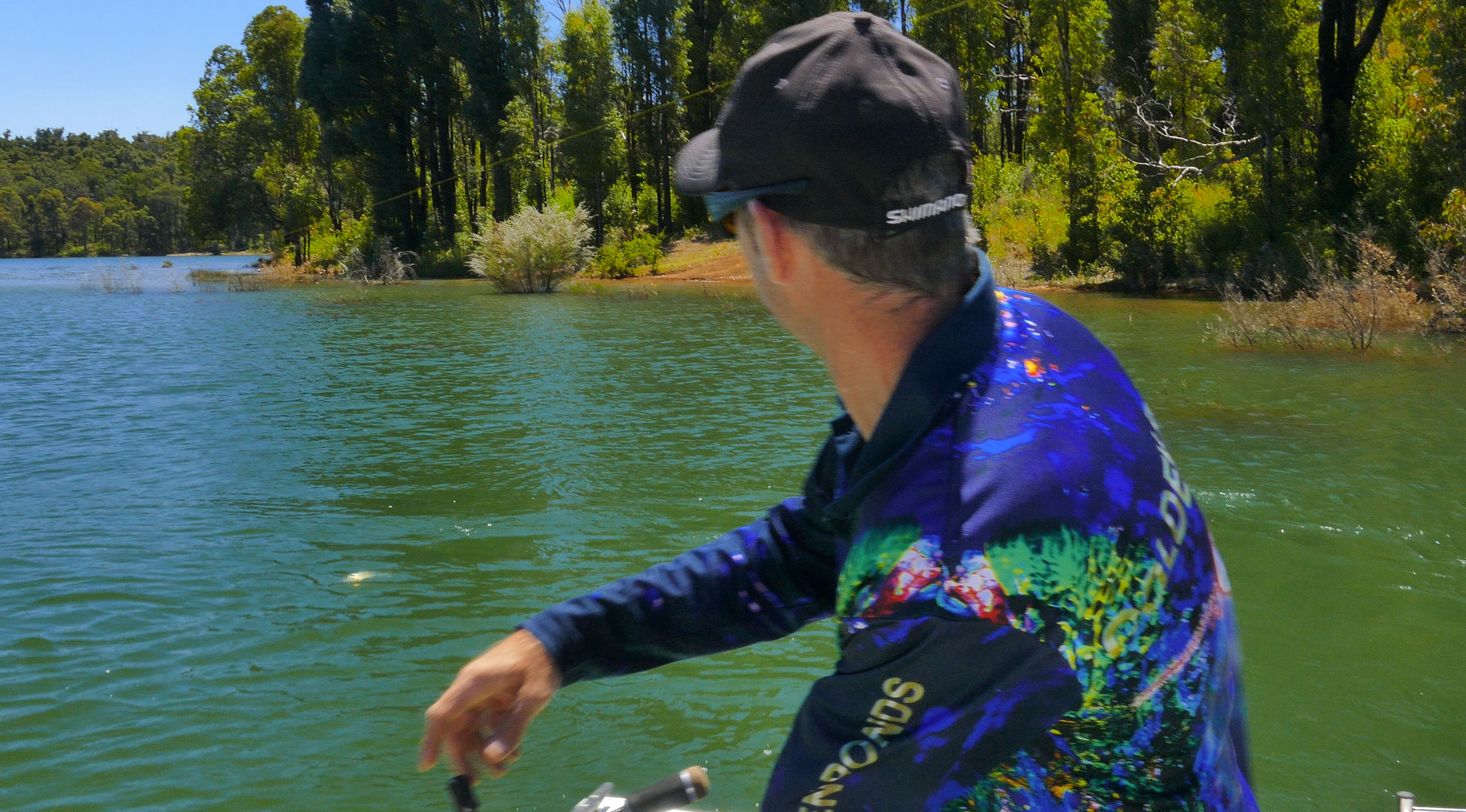 Nick Hocking at Waroona Dam