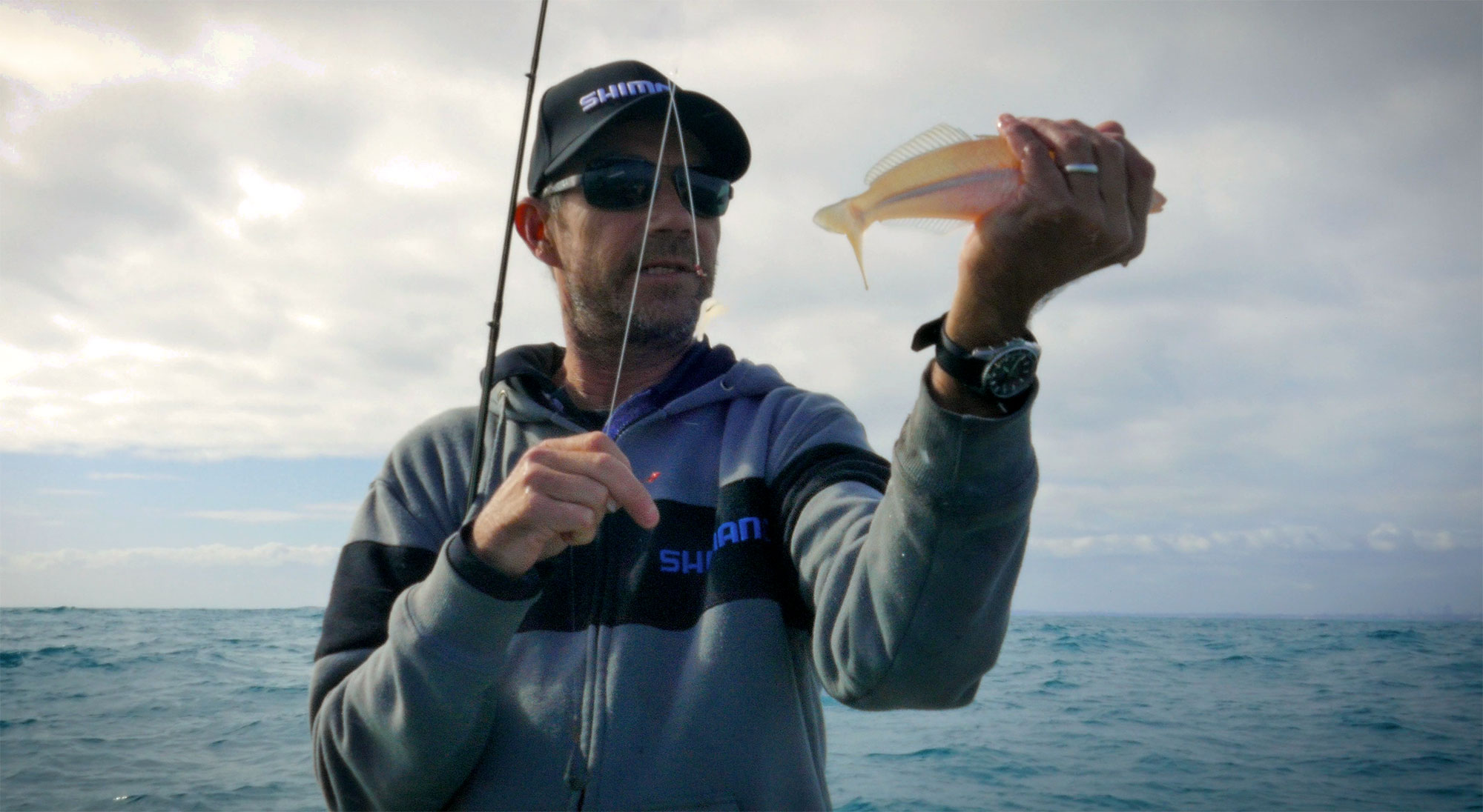 Nick Hocking with a Fremantle School Whiting