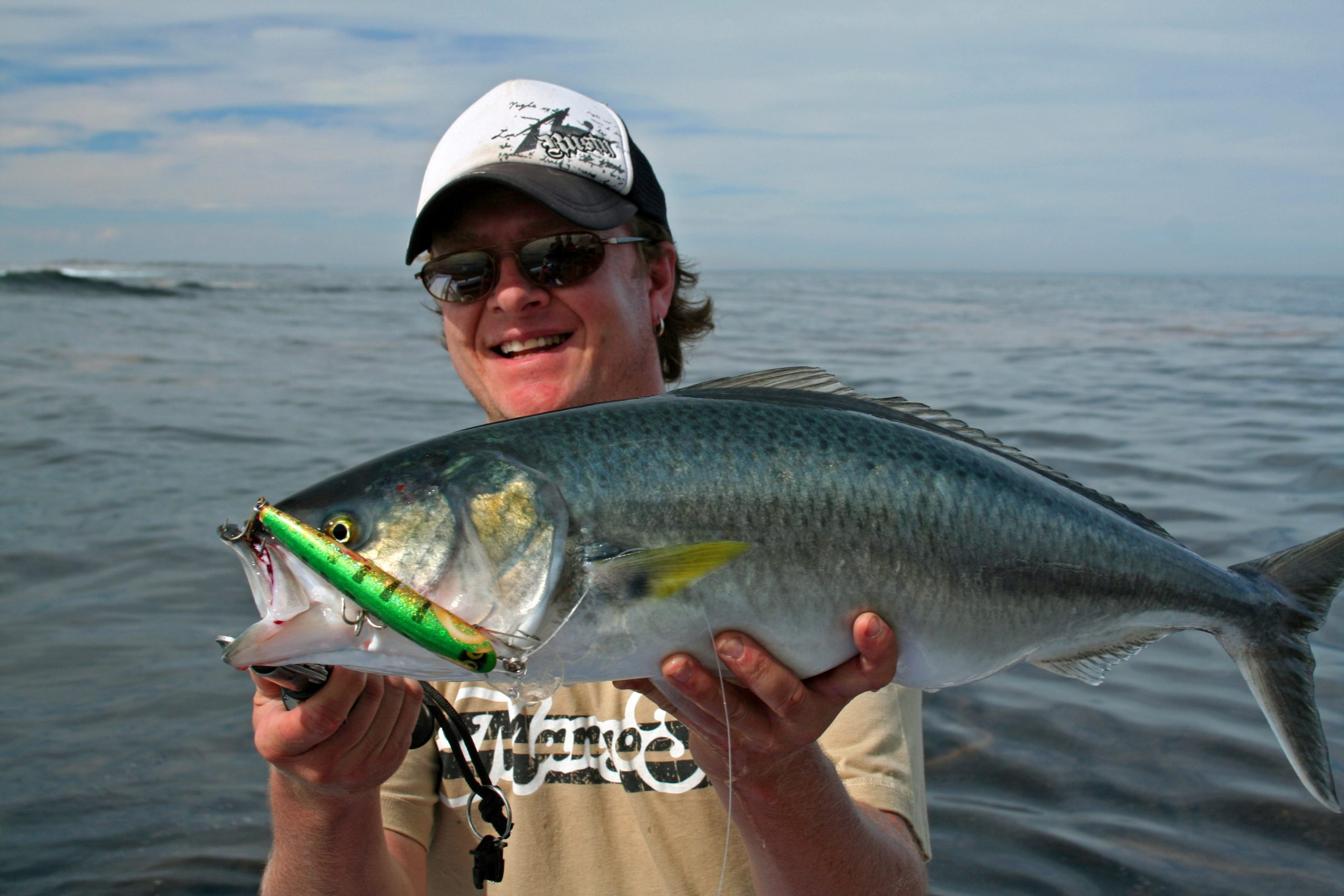 Steve Correia with Rottnest Island Salmon